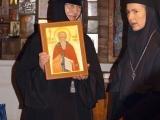 Дар Сретенского женского монастыря Покровскому – икона св. преп. Варлаама с частицей его мощей